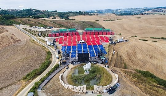 Teatro del Silenzio, L'Ajatico- Boccelli's concert - First week of July